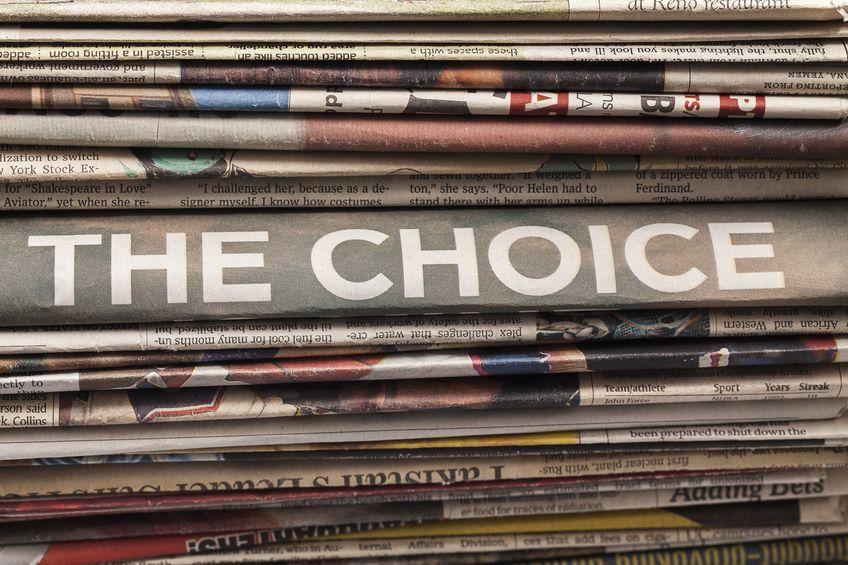 The choice- keuzes maken